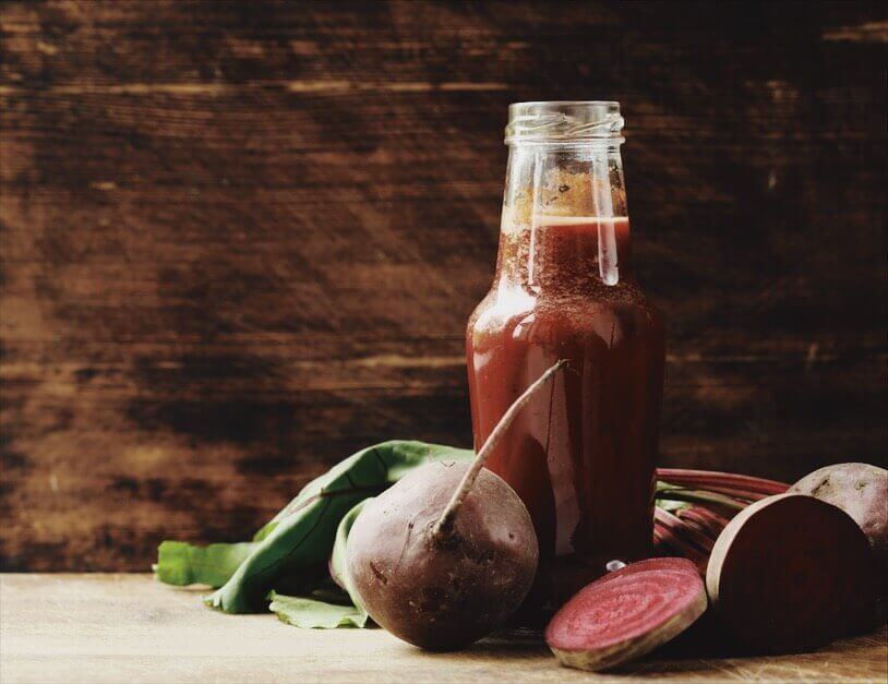 Beet Kvass Drink with fresh beets