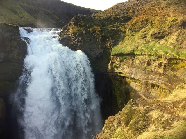 Skoga river, waterfall, Fimmvörðuháls Pass