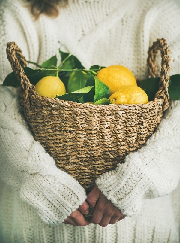 basket of lemons for preserving