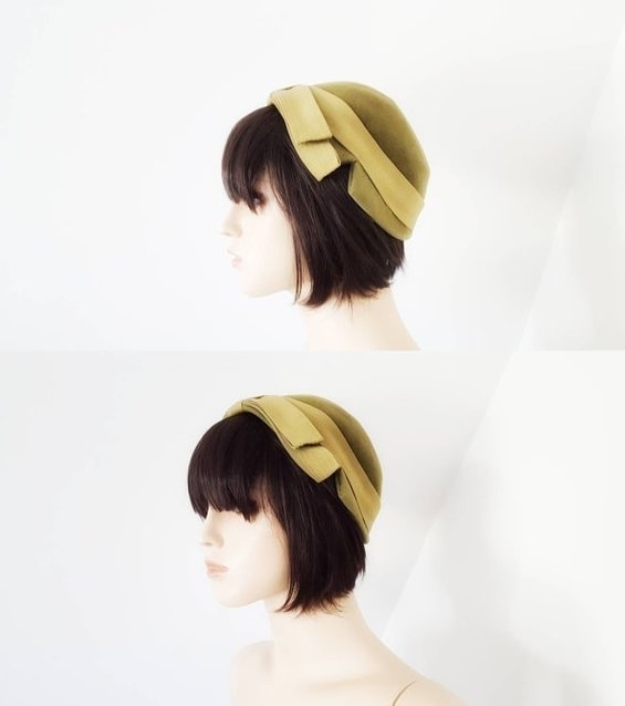 Vintage 1950's wool felt hat