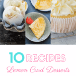a variety of lemon curd desserts