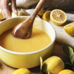 lemon curd in bowl