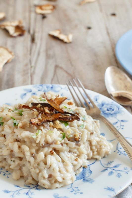 risotto and porcini mushrooms
