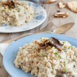risotto and porcini mushrooms