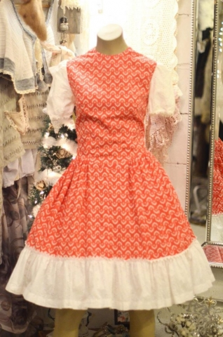 1950s Red & Lace Dress