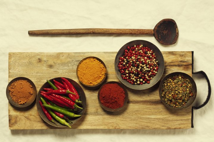 bowls full of indo-chinese spices