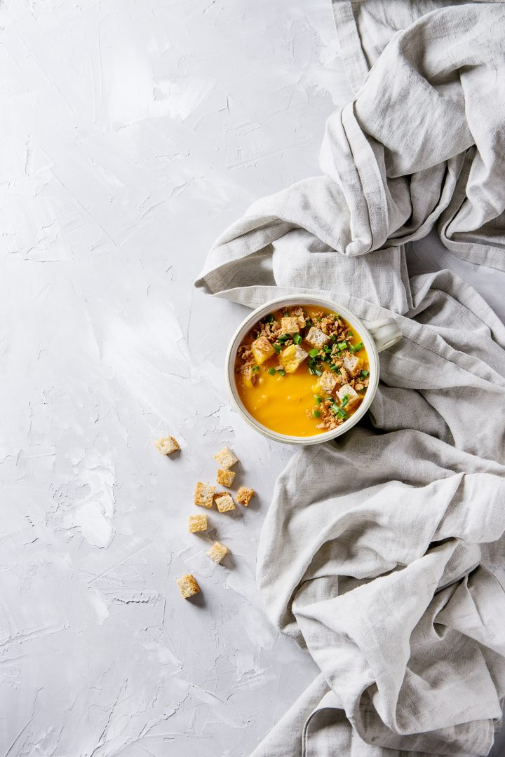 bowl of spicy carrot soup