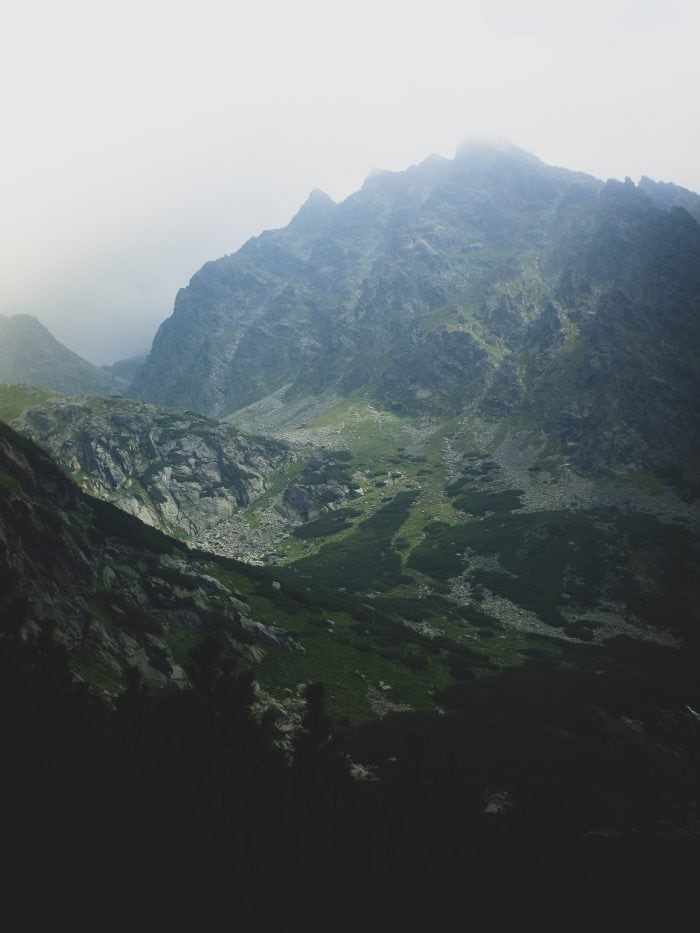 High Tatra mountain range in Slovakia