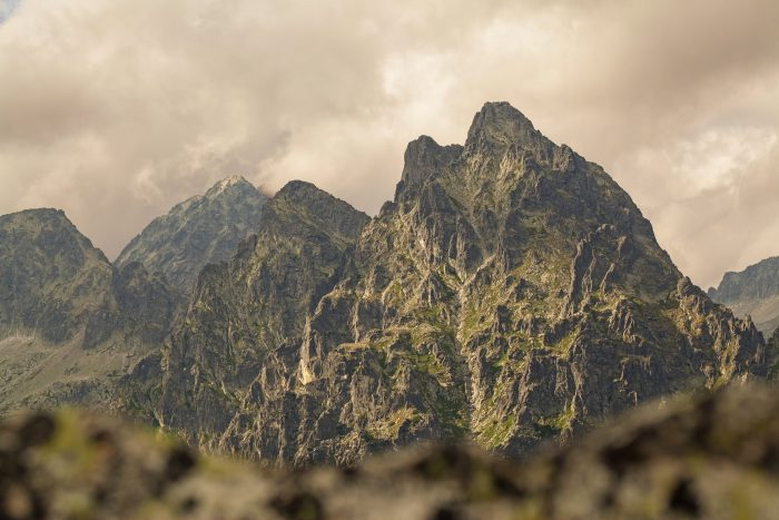 High Tatra mouintain range in slovakia