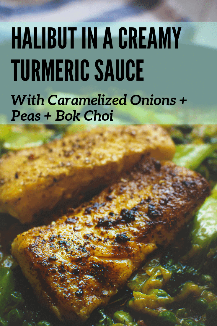 halibut fish in a turmeric sauce