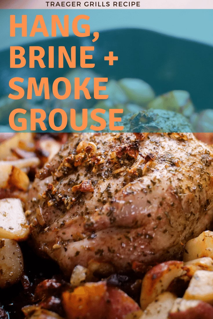 smoked wild grouse in skillet