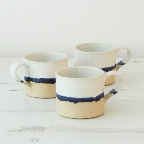3 ceramic coffee mugs