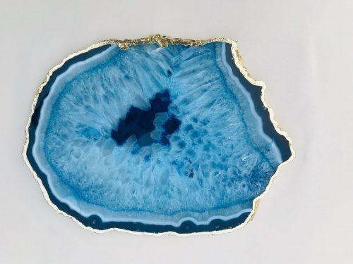 handmade blue agate platter