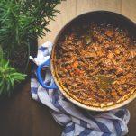 moose shoulder ragu in a pot