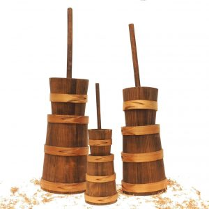 real wooden butter churn