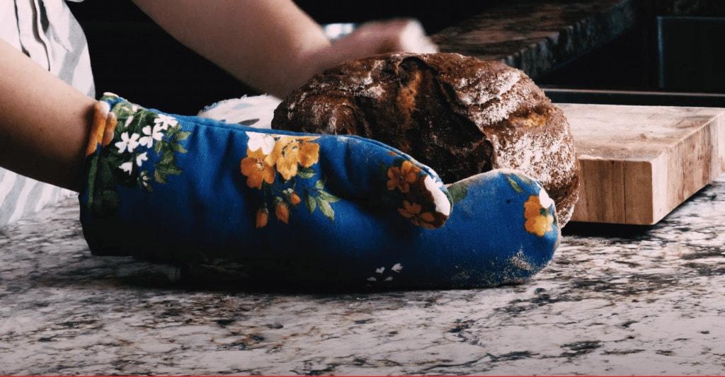 freshly baked loaf of irish soda bread