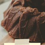 Pumpkin Spice Bundt Cake on cake stand for Pinterest image